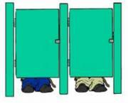 عکس العمل ها هنگام گیر کردن در توالت..!!