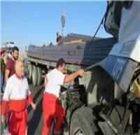 تصادف اتوبوس عزاداران حسینی با کامیون در جاده ساری - تاکام