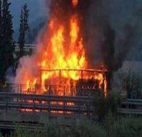 مرگ تلخ 16 دانش آموز در آتش اتوبوس مدرسه
