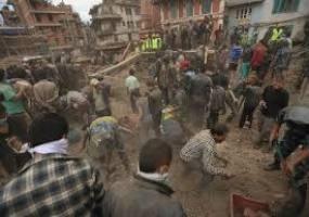 فیلمی از هنگام وقوع زلزله نپال