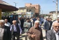خروش نمازگزاران میاندورودی در محکومیت تجاوز عربستان به یمن
