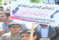 خروش نمازگزاران میاندورودی در محکومیت جنایتهای آلسعود در یمن