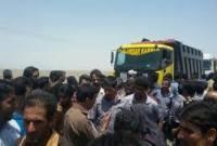 جاده گهرباران توسط اهالی منطقه مسدود شد
