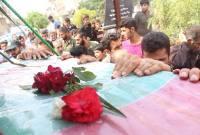تشییع شهدای غواص و خط شکن در روستای دارابکلا