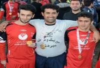 جشن قهرمانی تیم فوتبال شهدای ماکران
