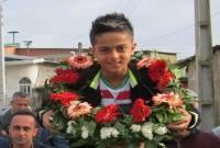 استقبال از بازیکن میاندورودی تیم ملی زیر 13 فوتبال
