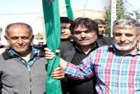 مراسم علم گردش در روستای عزتالدین