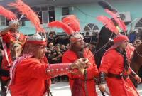 مراسم دستهروی و عزاداری در روز تاسوعای حسینی روستا اسرم (1)
