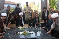 مراسم رونمایی از یادمان شهدای گمنام سورک برگزار شد