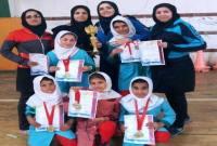 کسب مقام اول تیم طناب زنی دانش آموزان میاندورودی در استان