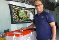 حضور پرشور مردم میاندورود پای صندوق رای