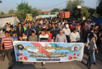 پیاده روی خانوادگی در شهر سورک بهمناسبت هفته دفاع مقدس و نیروی انتظامی