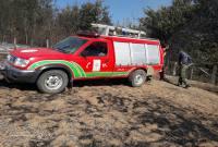 آتش گرفتن زمین کشاورزی و جنگل روستای کیاپی+ تصاویر