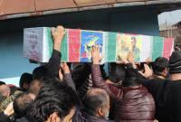 مراسم تشییع پیکر محمد معافی اولین شهید مدافع حرم میاندورود