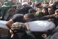 مراسم تدفین پیکر محمد معافی اولین شهید مدافع حرم میاندورود