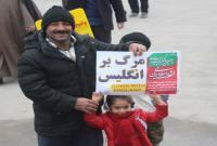 شور شیرین مردم میاندورود در راهپیمایی 22 بهمن و جشن چهل سالگی انقلاب اسلامی