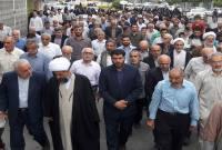 راهپیمایی مردم میاندورود در حمایت از بیانیه شورای امنیت ملی