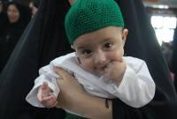 مراسم شیرخوارگان حسینی در تکیه بالا سورک برگزار شد