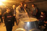 برگزاری مراسم حلیمپزی بهمناسبت اربعین حسینی در سورک