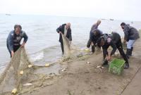 تلاش ماهیگیران میاندورودی برای کسب روزی از دریا