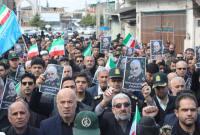 راهپیمایی مردم میاندورود در محکومیت ترور سردار سلیمانی از سوی آمریکای جنایتکار