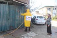 ضدعفونی و گندزدایی اماکن و معابر عمومی توسط سپاه میاندورود