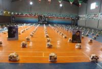 برگزاری مرحله دوازدهم رزمایش کمک مومنانه در میاندورود با تهیه و توزیع 850 بسته معیشتی
