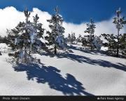 طبیعت زمستانی جاده خلخال به اسالم