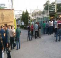 تجمع کارگران کشت و صنعت شمال مقابل استانداری مازندران